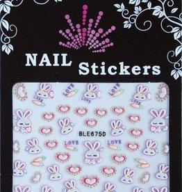 Bell'ure Nail Art Sticker Bunnies & Hearts