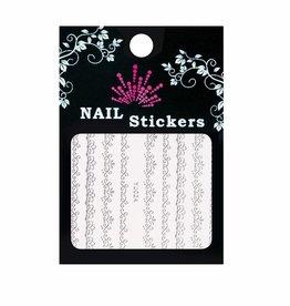 Bell'ure Nail Art Sticker Baroque Silver