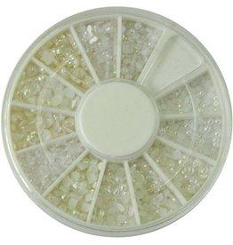 Bell'ure Carrousel Pearls White + Beige