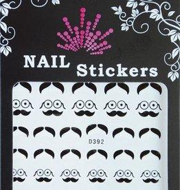 Bell'ure Nail Art Sticker Moustache Round Glasses