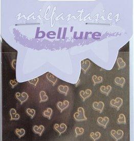 Bell'ure Nail Art Sticker Hearts of Gold