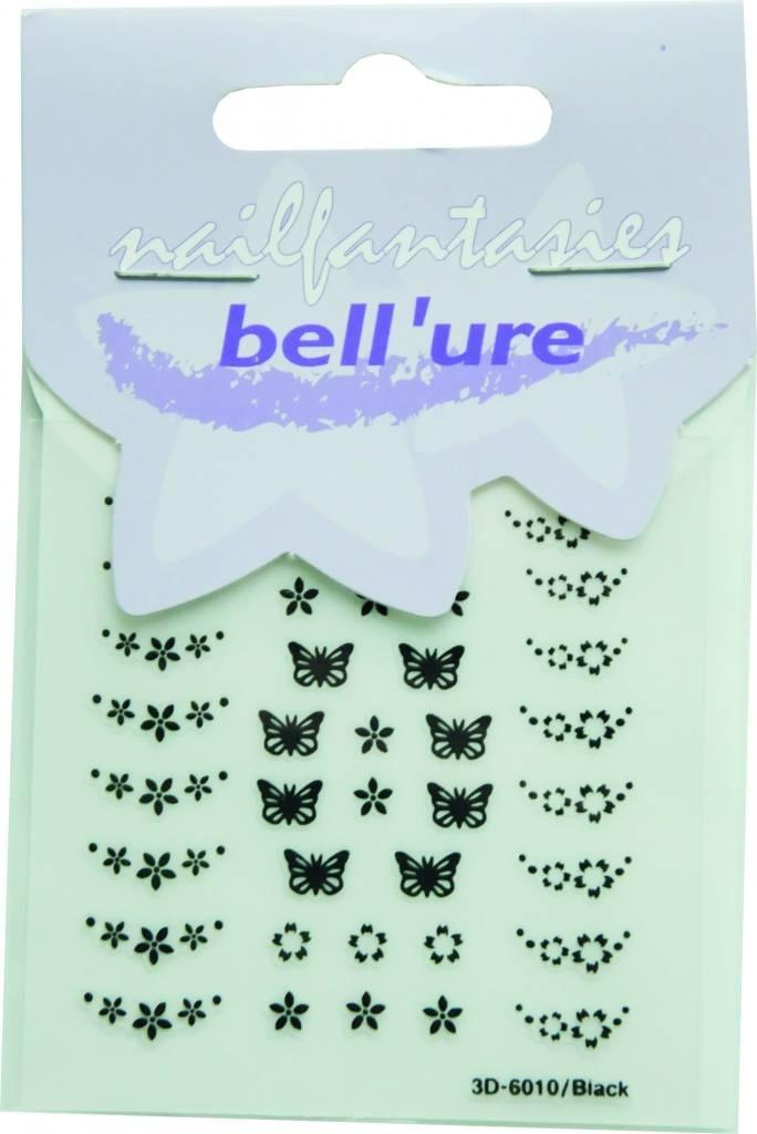Bell'ure Nail Art Sticker Butterfly Black