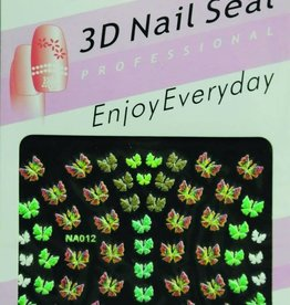 Bell'ure Nail Art Sticker Butterfly Rainbow