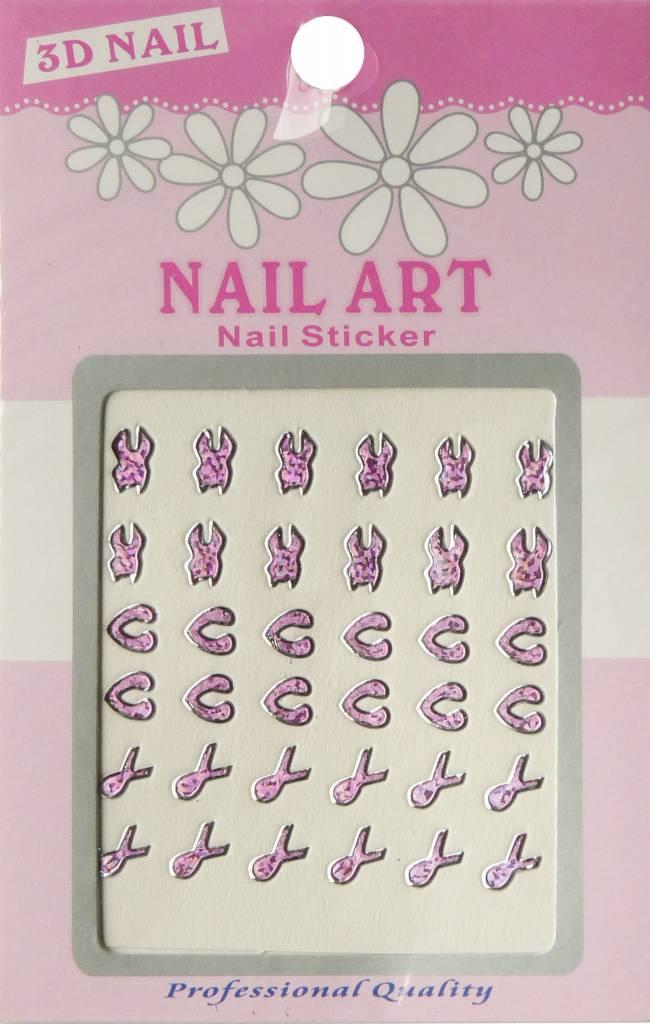 Bell'ure Nail Art Sticker 3D 110