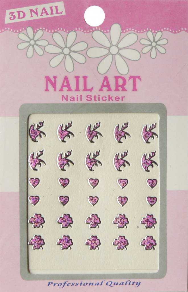 Bell'ure Nail Art Sticker 3D 118