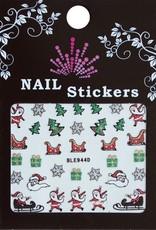 Bell'ure Nail Art Sticker Christmas Santa