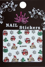 Bell'ure Nail Art Sticker Christmas Angry Birds