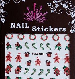 Bell'ure Nail Art Sticker Christmas Candy Cane