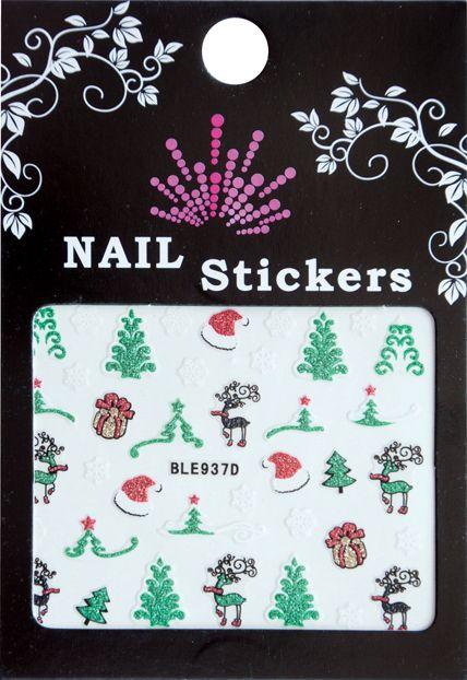 Bell'ure Nail Art Sticker Christmas Trees