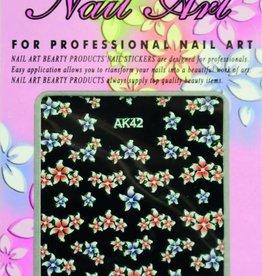 Bell'ure Nail Art Sticker Flowers AK42