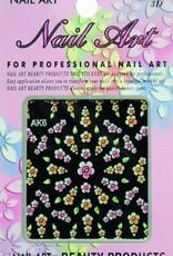 Bell'ure Nail Art Sticker Flowers AK6
