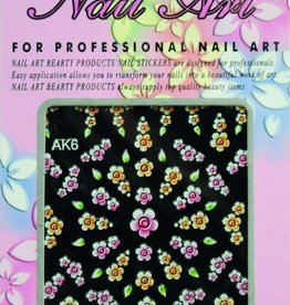 Bell'ure Nail Art Sticker Flowers AK6