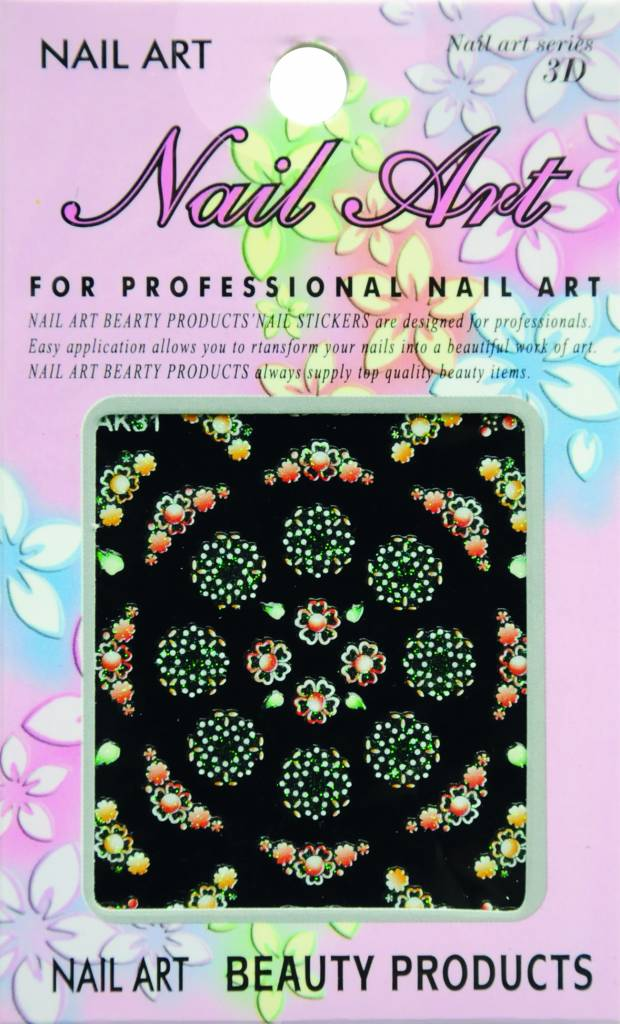 Bell'ure Nail Art Sticker Flowers AK31