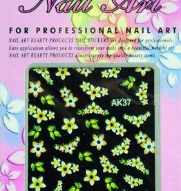 Bell'ure Nail Art Sticker Flowers AK37
