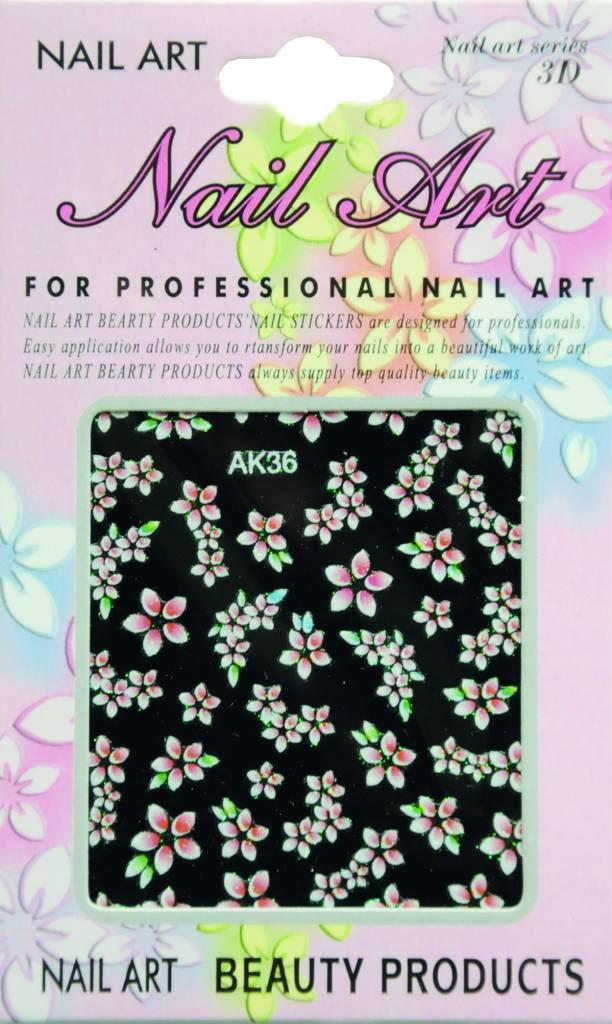 Bell'ure Nail Art Sticker Flowers AK36