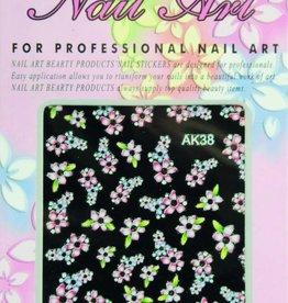 Bell'ure Nail Art Sticker Flowers AK38