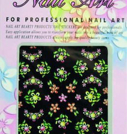 Bell'ure Nail Art Sticker Flowers AK19