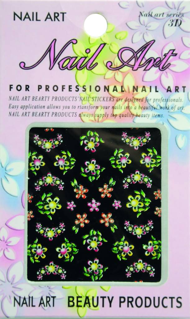 Bell'ure Nail Art Sticker Flowers AK19