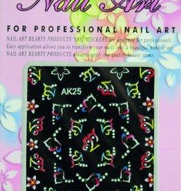 Bell'ure Nail Art Sticker Flowers AK25