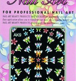 Bell'ure Nail Art Sticker Flowers AK9
