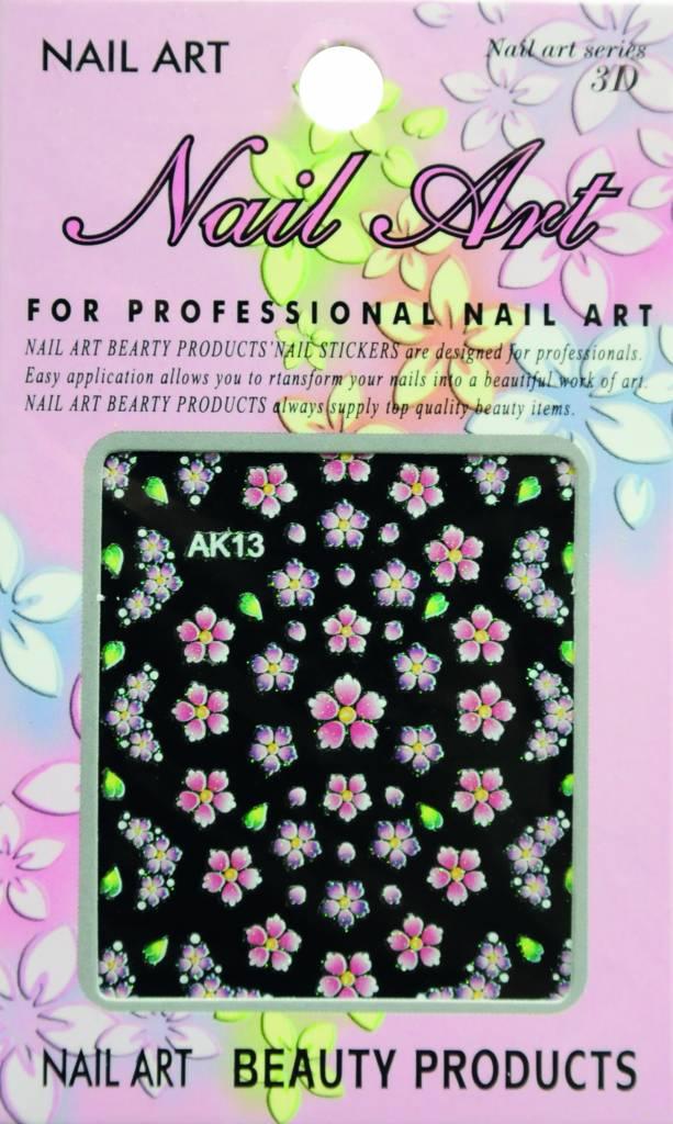 Bell'ure Nail Art Sticker Flowers AK13