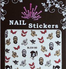 Bell'ure Nail Art Sticker Halloween Scream