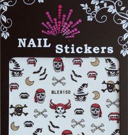Bell'ure Nail Art Sticker Halloween Pirate Skulls