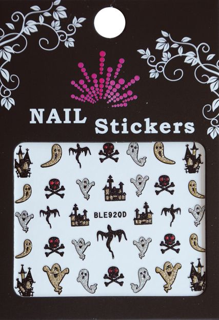 Bell'ure Nail Art Sticker Halloween Ghosts & Churches