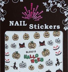 Bell'ure Nail Art Sticker Halloween Glitter Pumpkins