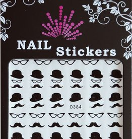 Bell'ure Nail Art Sticker Moustache Cat Eye Glasses