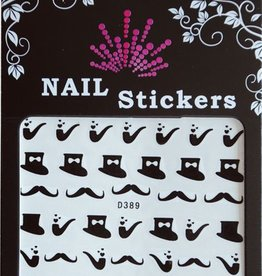 Bell'ure Nail Art Sticker Moustache Pipes