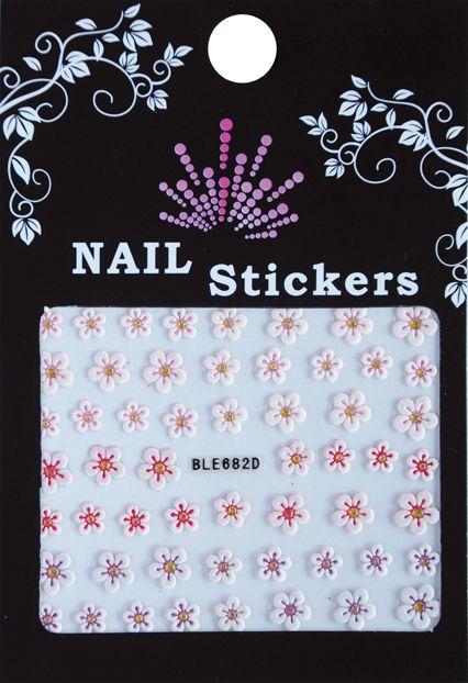 Bell'ure Nail Art Sticker Flowers BLE682D