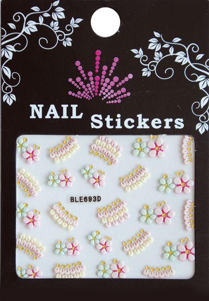 Bell'ure Nail Art Sticker Flowers BLE693D