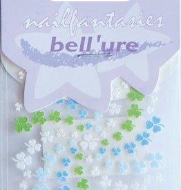 Bell'ure Nail Art Sticker Clover Blue & Green