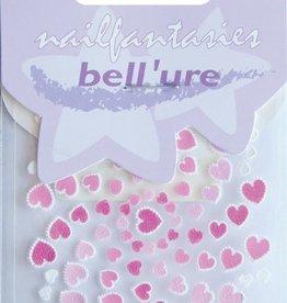 Bell'ure Nail Art Sticker Hearts Pink