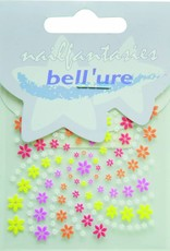 Bell'ure Nail Art Sticker Multicolor Flowers