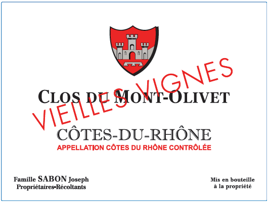 Clos du Mont Olivet, Côtes du Rhône Vieilles Vignes, 2019