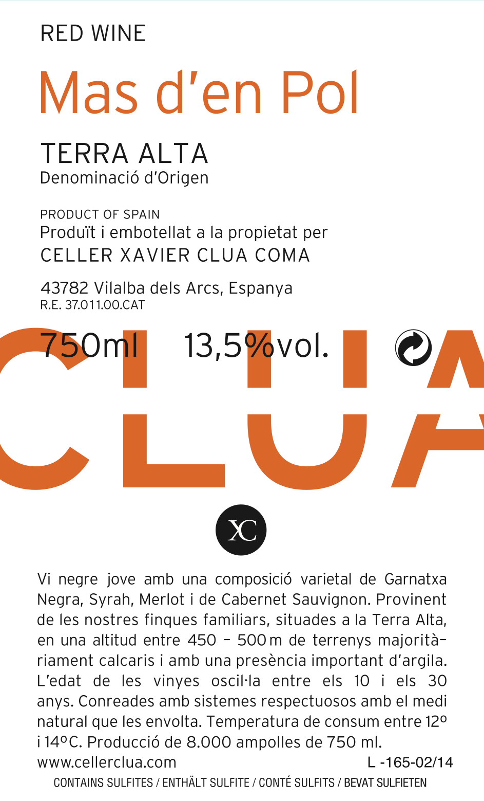 Clua Xavier, Mas d'en Pol Negre, 2018