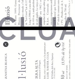 Clua Xavier, Garnatxa blanc Il.lussio, 2019