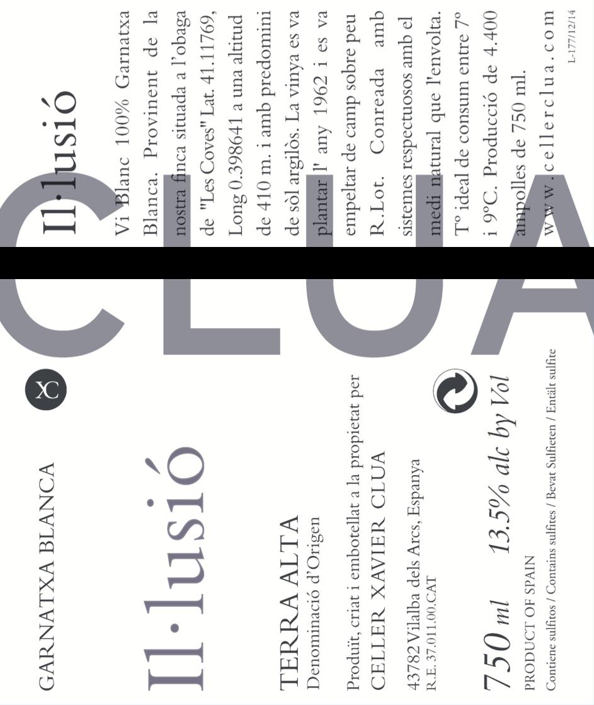 Clua Xavier, Garnatxa blanca Il.lussio, 2019