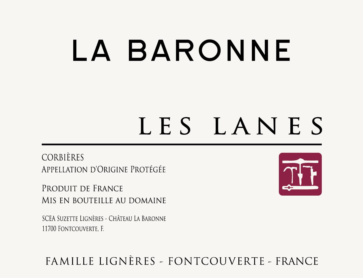 La Baronne, Corbières Les Lanes, 2018