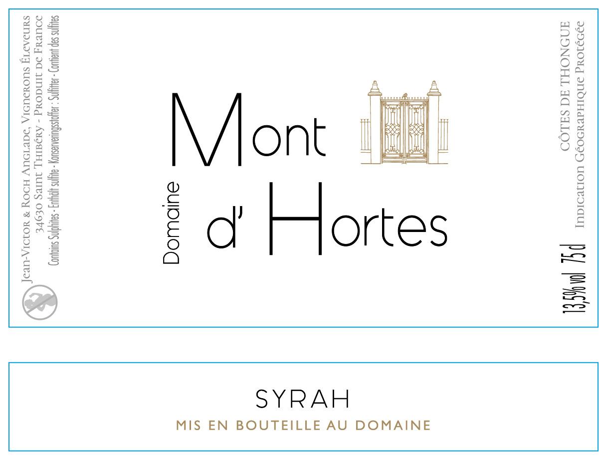 Mont d'Hortes, Côtes de Thongue Syrah, 2019
