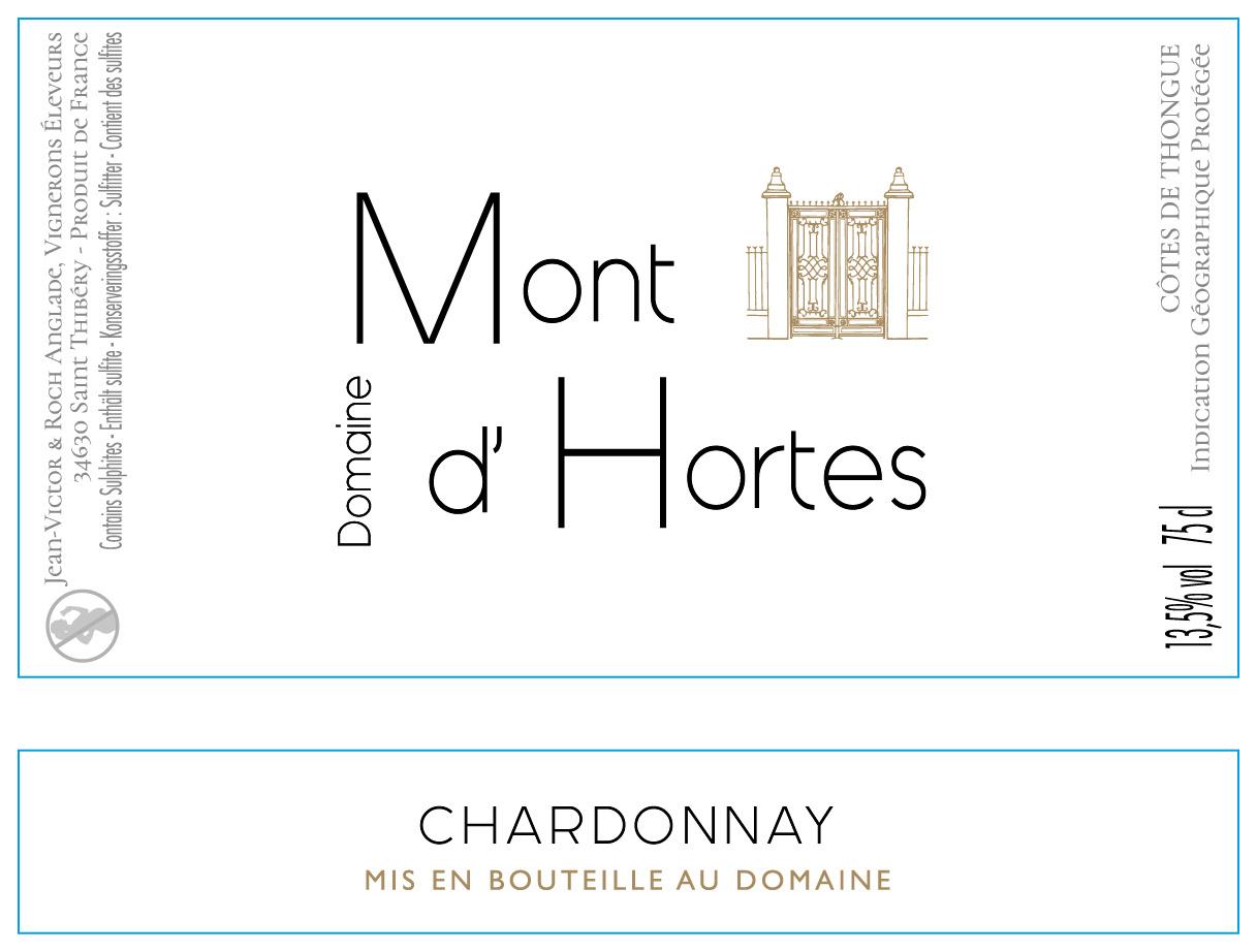 Mont d'Hortes, Côtes de Thongue Chardonnay, 2020