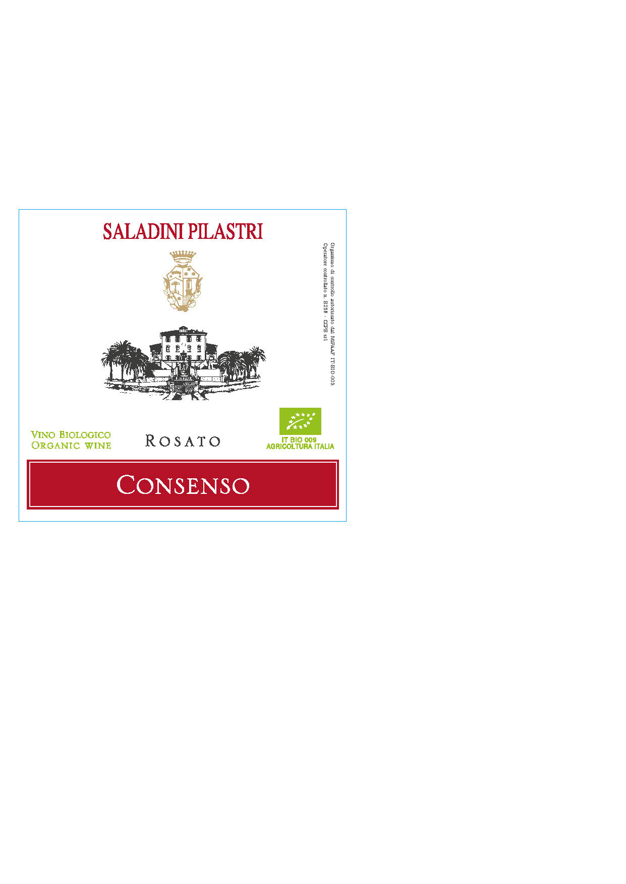 Saladini Pilastri, Rosato Consenso, 2019