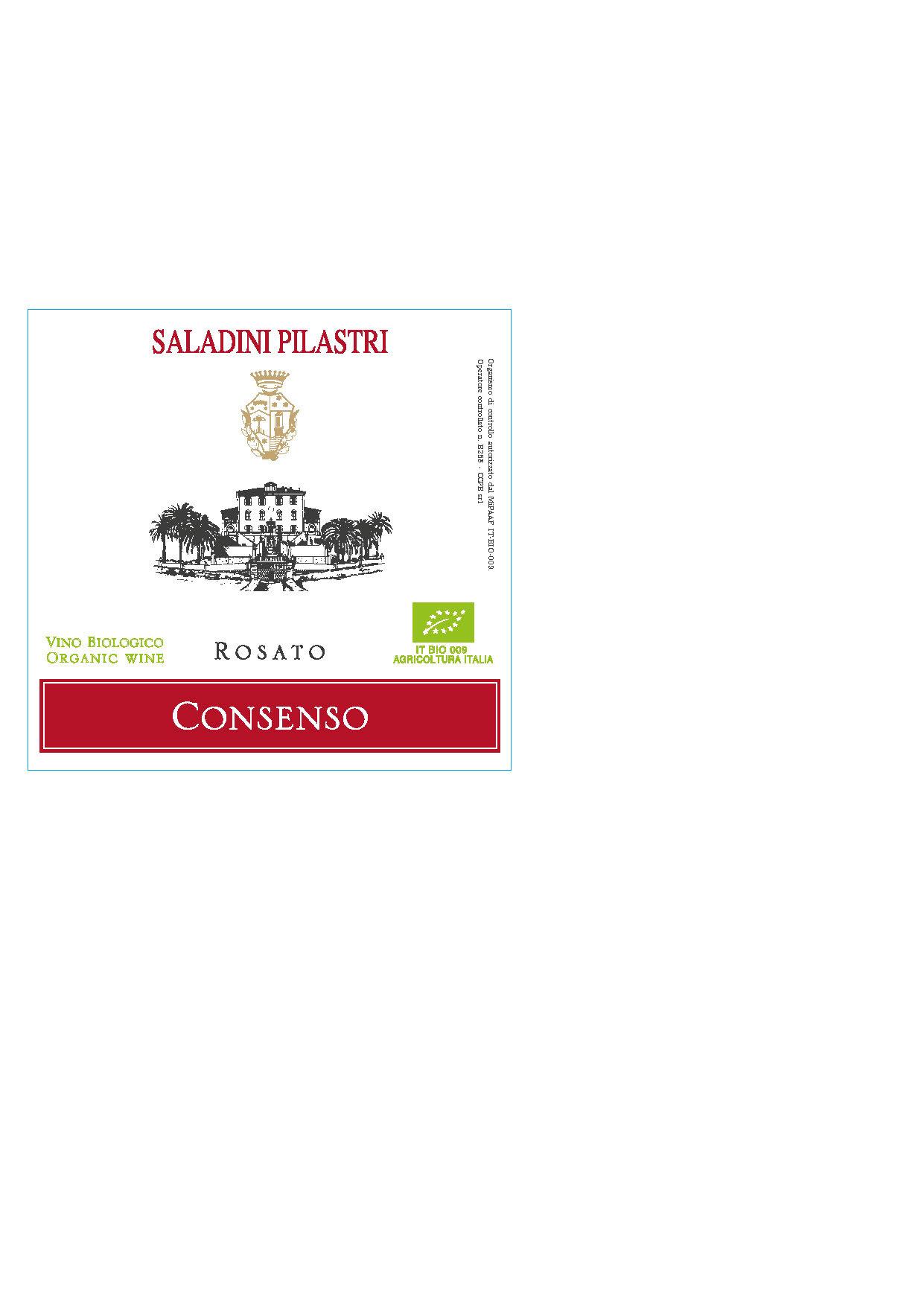Saladini Pilastri, Rosato Consenso, 2020