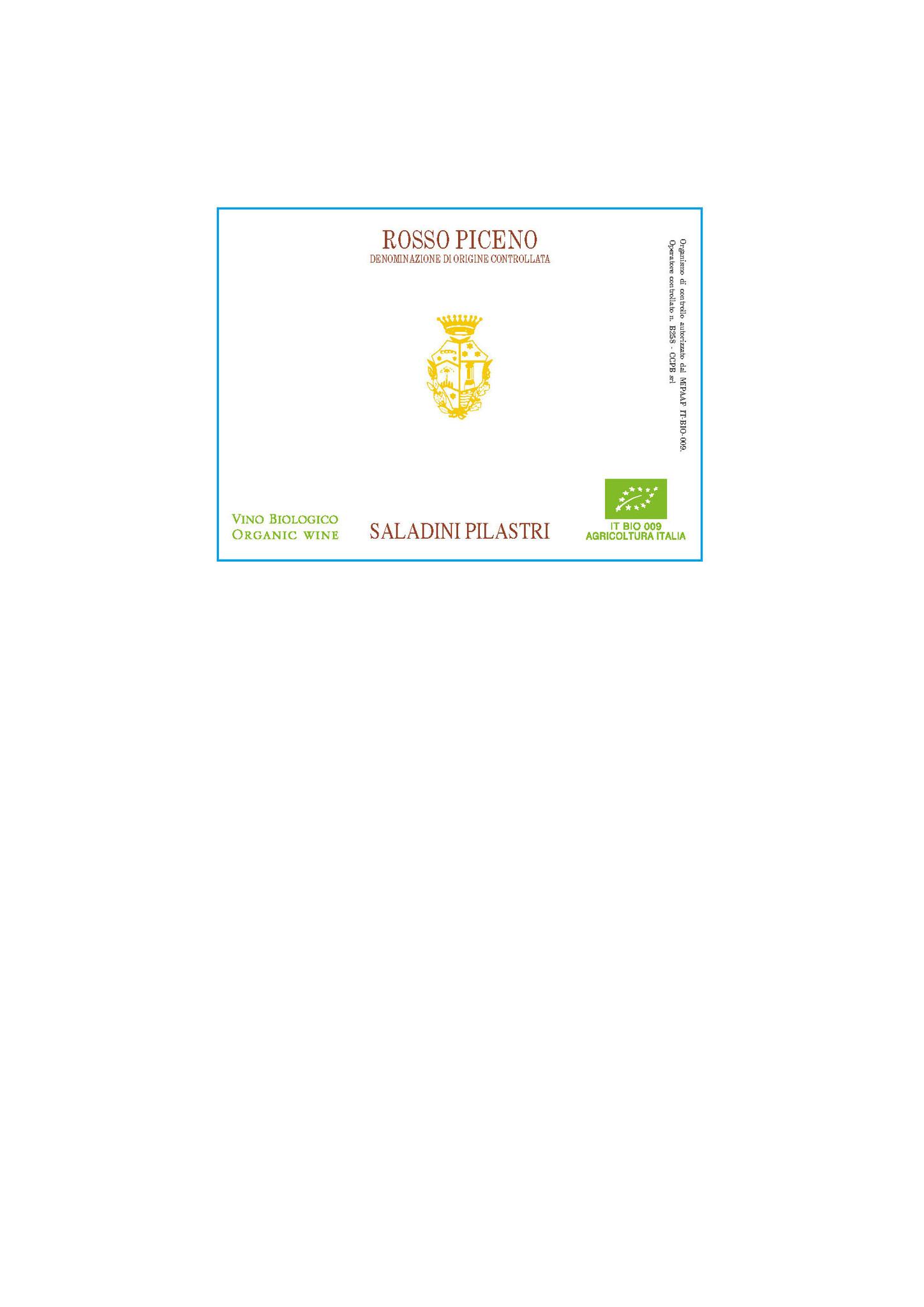 Saladini Pilastri, Rosso Piceno, 2020