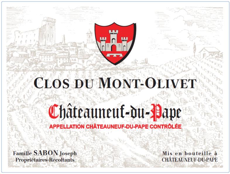 Clos du Mont Olivet, Châteauneuf-du-Pape wit, 2019