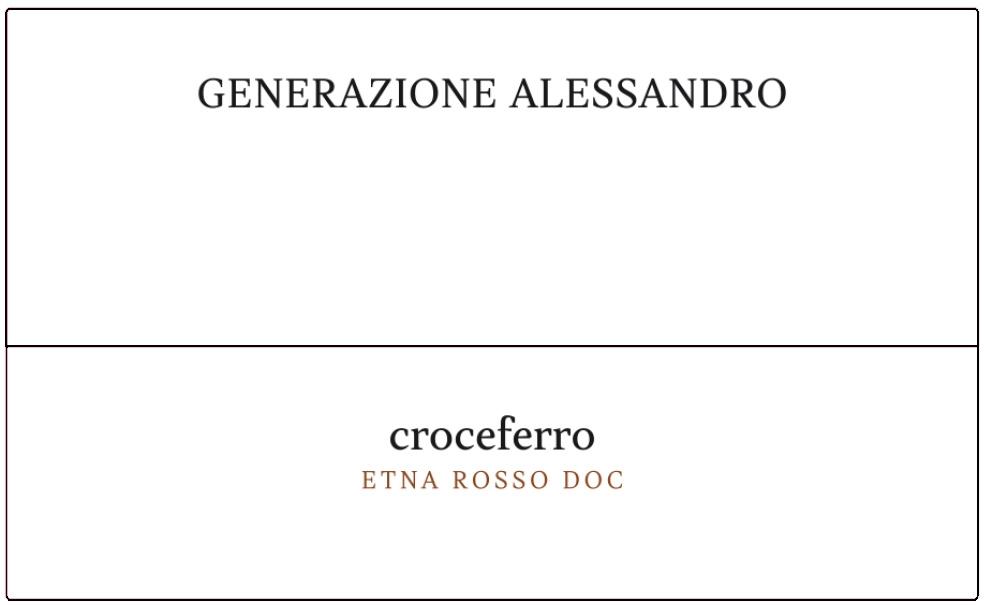 Generazione Alessandro, Etna Rosso  Croceferro, 2018