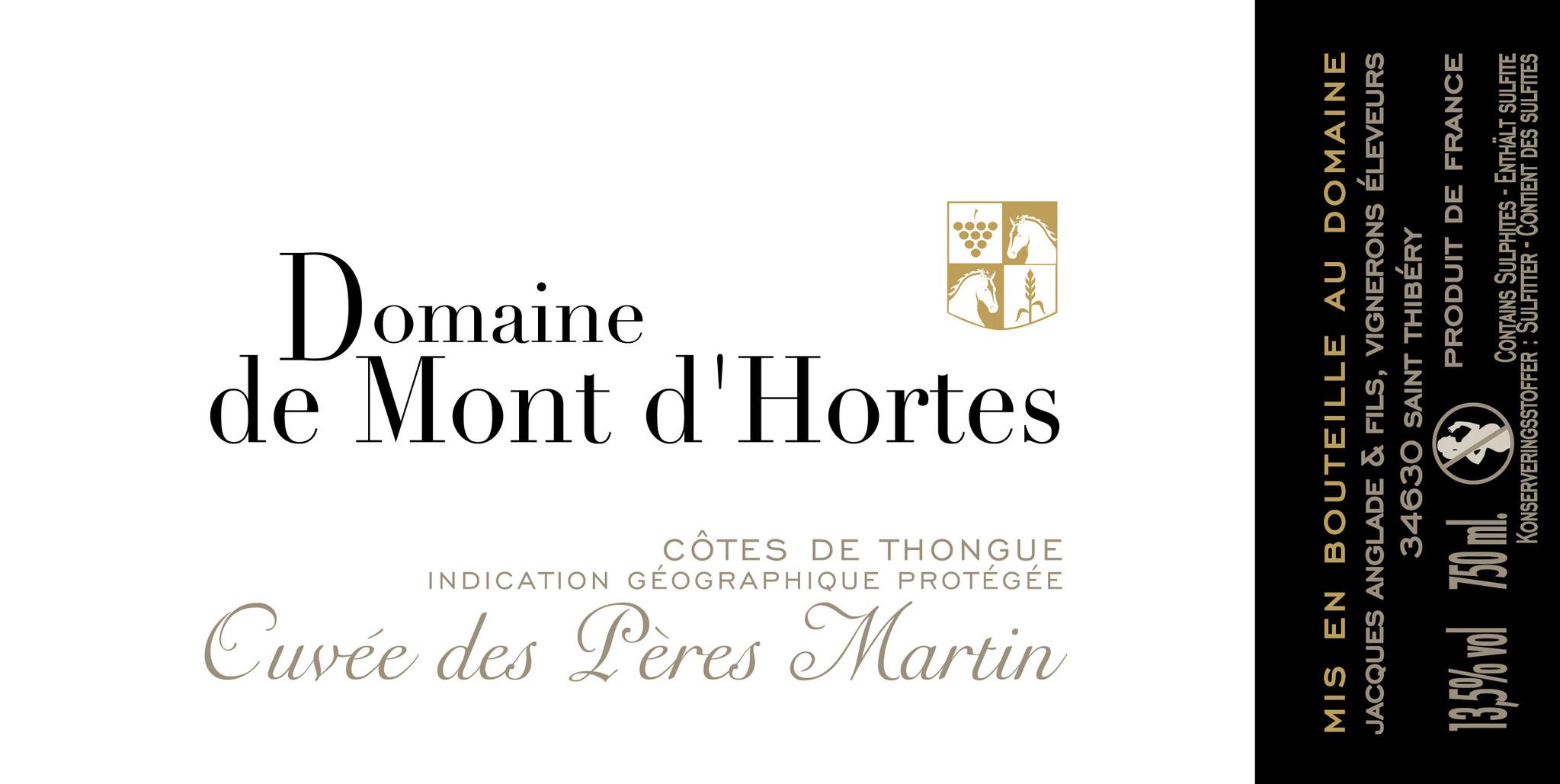 Mont d'Hortes, Côtes de Thongue Pères Martin, 2018