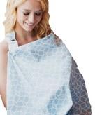 Udder Covers Voedingsdoek Sloane (lichtblauw/wit)